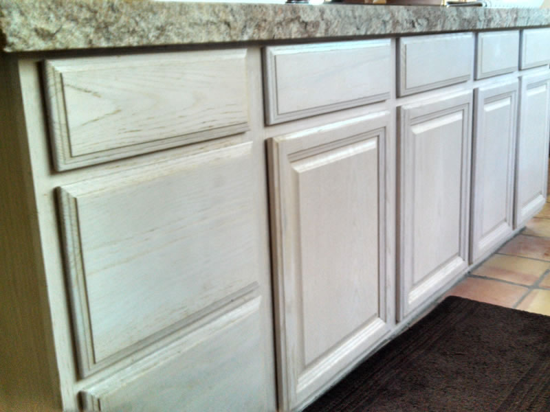 Cabinet refacing carefree arizona grapevine cabinets - Whitewashed oak cabinets ...