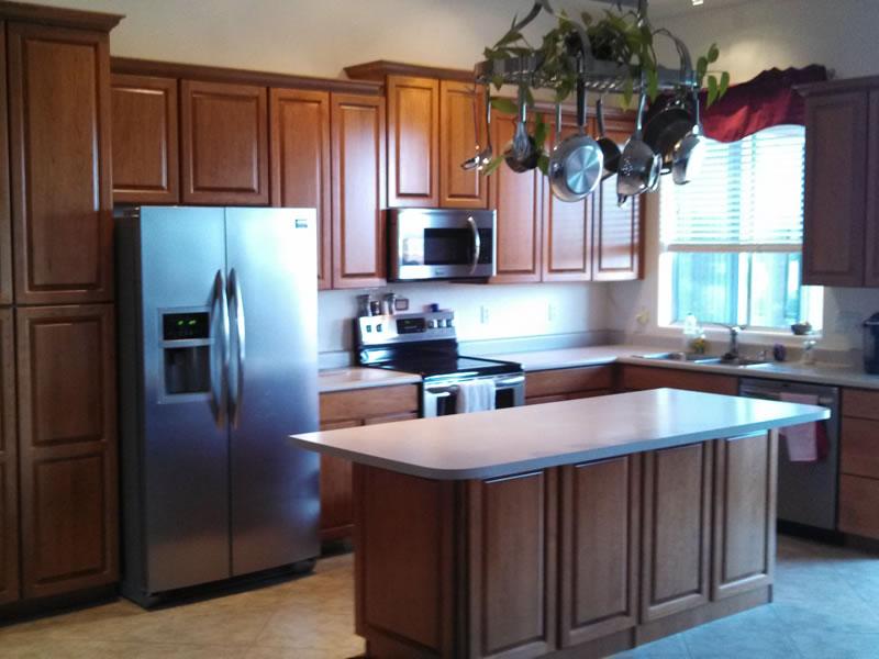 Fountain Hills Cabinet Refinishing, Whitewash Cherry Cabinets