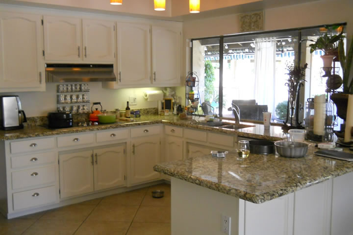 Refinished White Kitchen Cabinets:Scottsdale