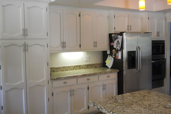 Oak to White Cabinets