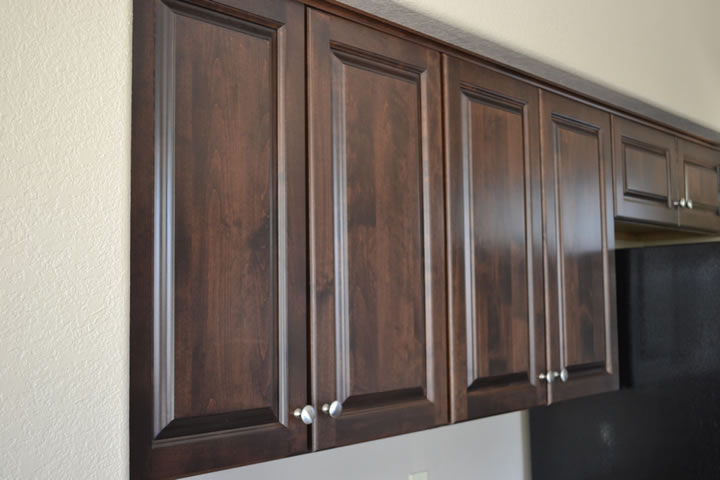 Oak Cabinets to Raised Alder